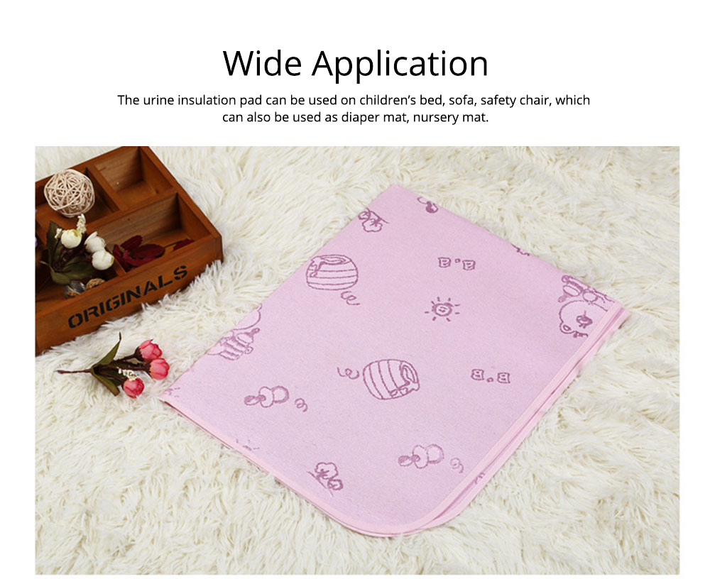Summer New-born Baby Urine Insulation Pad Waterproof Washable Cool Mattress Mat 6