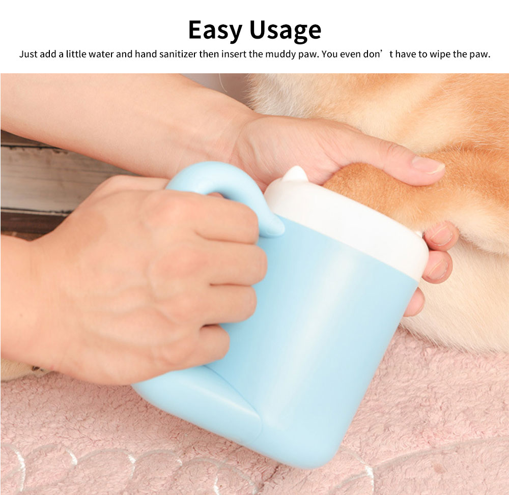 Automatic Plastic Foot-washing Cup for Teddy, Cat, Portable Dog Foot Soft Paw Washer Cleaner 3