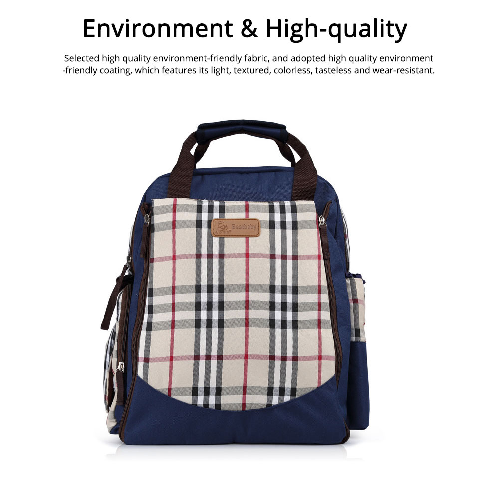 Waterproof Oxford Nylon Shoulder Bag Multiple Functions Cross-bag Large Capacity Suitcase for Mummy Backpack 1