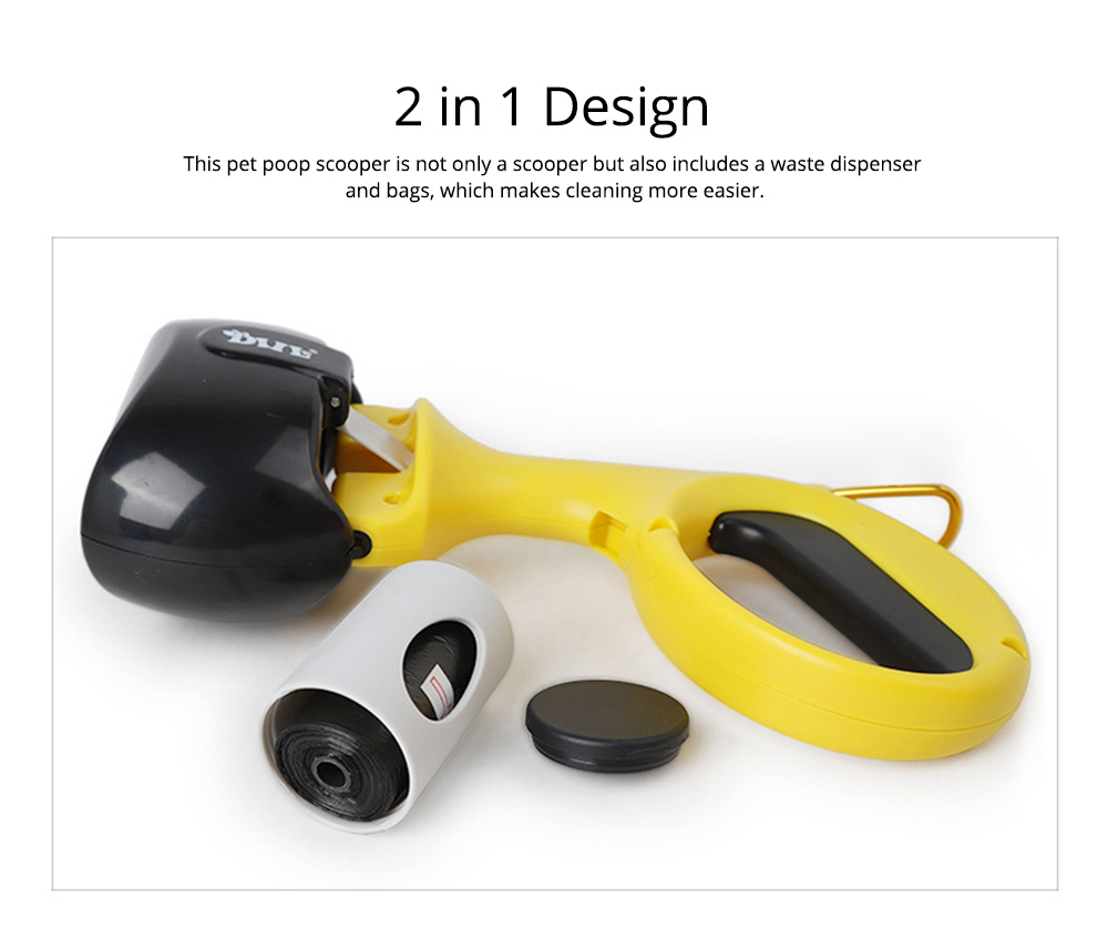 Pet Portable Poop Scooper with Free Dog Waste Dispenser and Bags Included for Dog and Cat 3