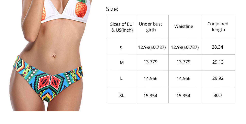 Polyester Swimwear Spandex Material Pineapple Printing Bikini for Women Sexy Bathing Suit Two-pieces Swimsuit for Summer 7