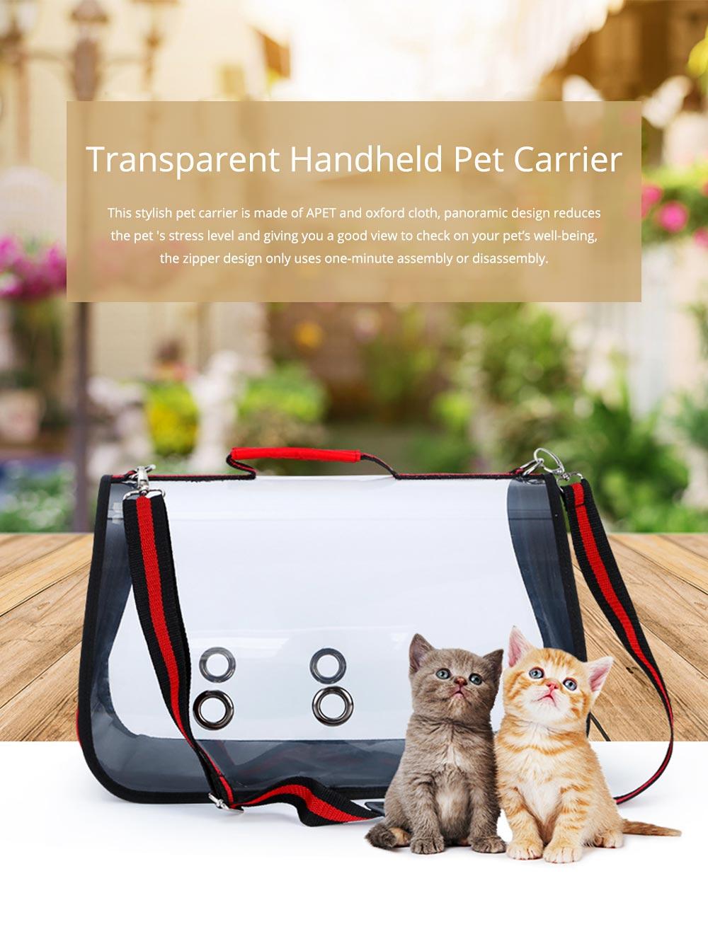 Transparent Pet Carrier Single-shouldered Handheld Cat Bag For Cat Dog for Outdoor Use 0