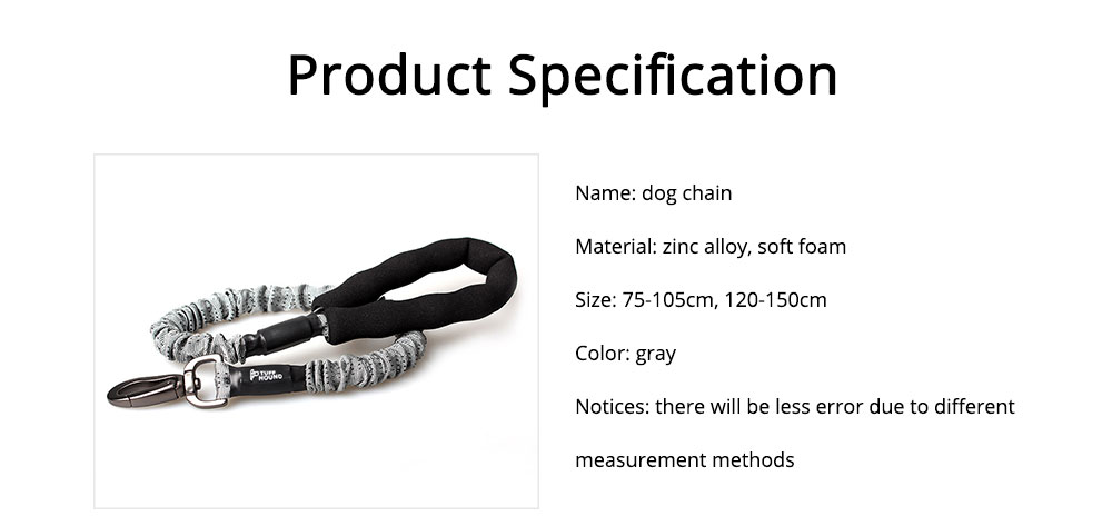 Dog Chain Zinc Alloy Foam Material Stretched Contracted Dog Leash Flexible Strong Dog Lead 6
