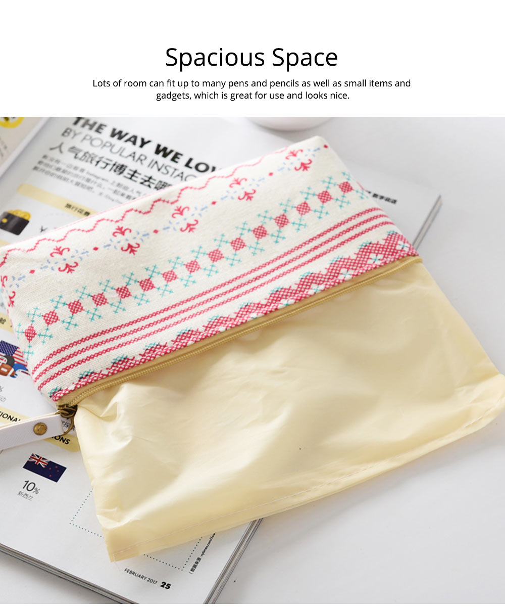 Korean Style New Creative Student Stationery Bag Cotton Linen Pen Bag for Different Patterns Optional 5
