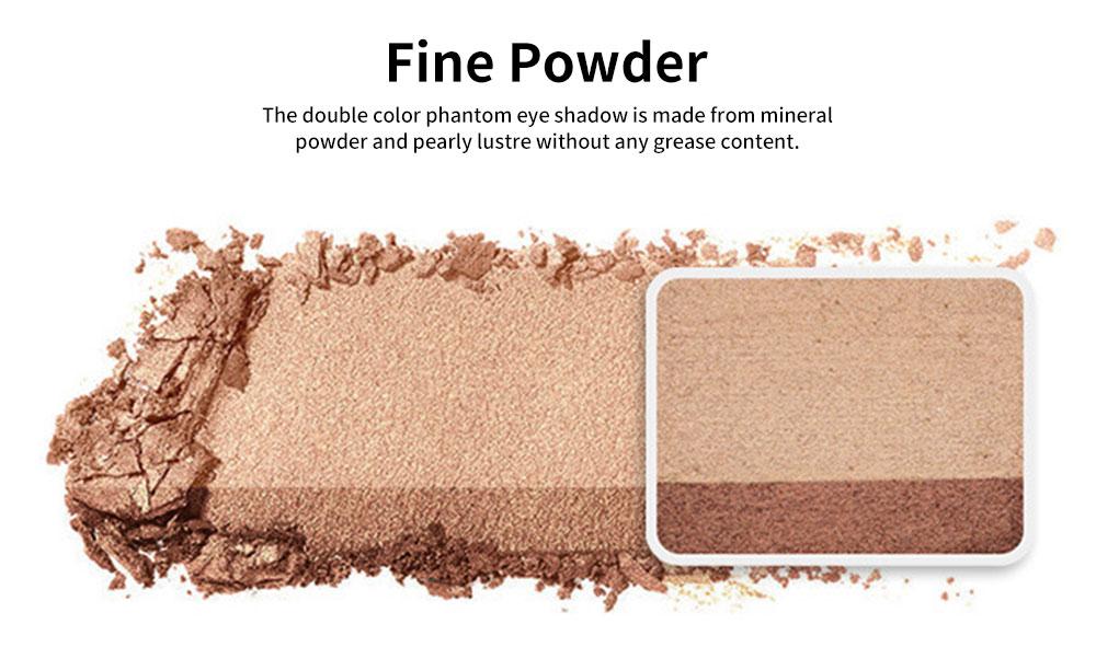 Lazy Double Color Phantom Eye Shadow Gradient Ramp Pearl Eyeshadow Earth Color No Blending Waterproof Eye Shadow 1