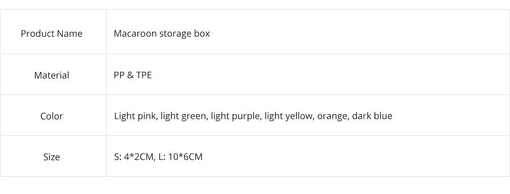 Mini Macaron Box Colorful Macaron Jewelry Storage Box Cute Organizer Case Container 7