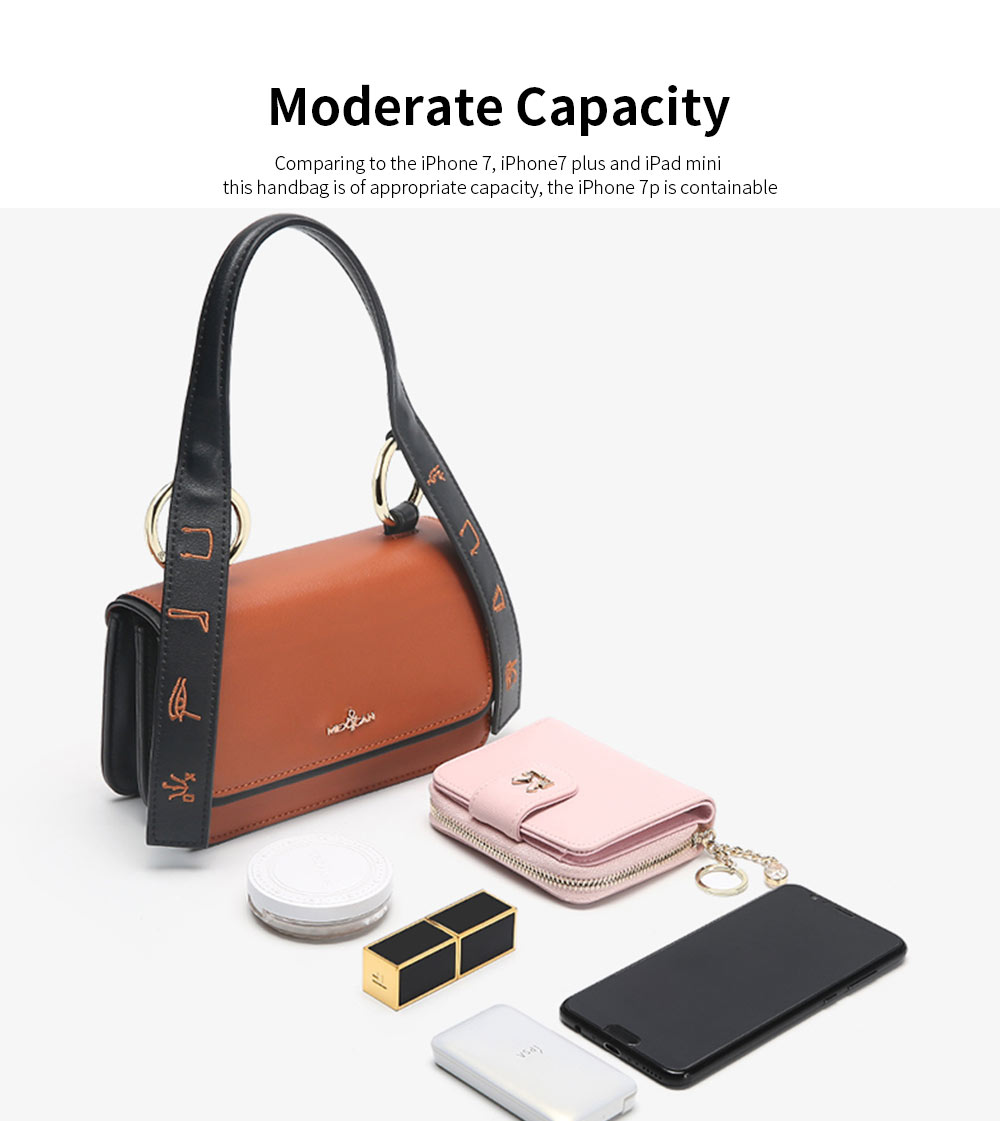 2019 Latest Fashionable Women Purse, PU Magnetic Snap Shoulder Bag, Messenger Bag for Ladies Easy Matching 2