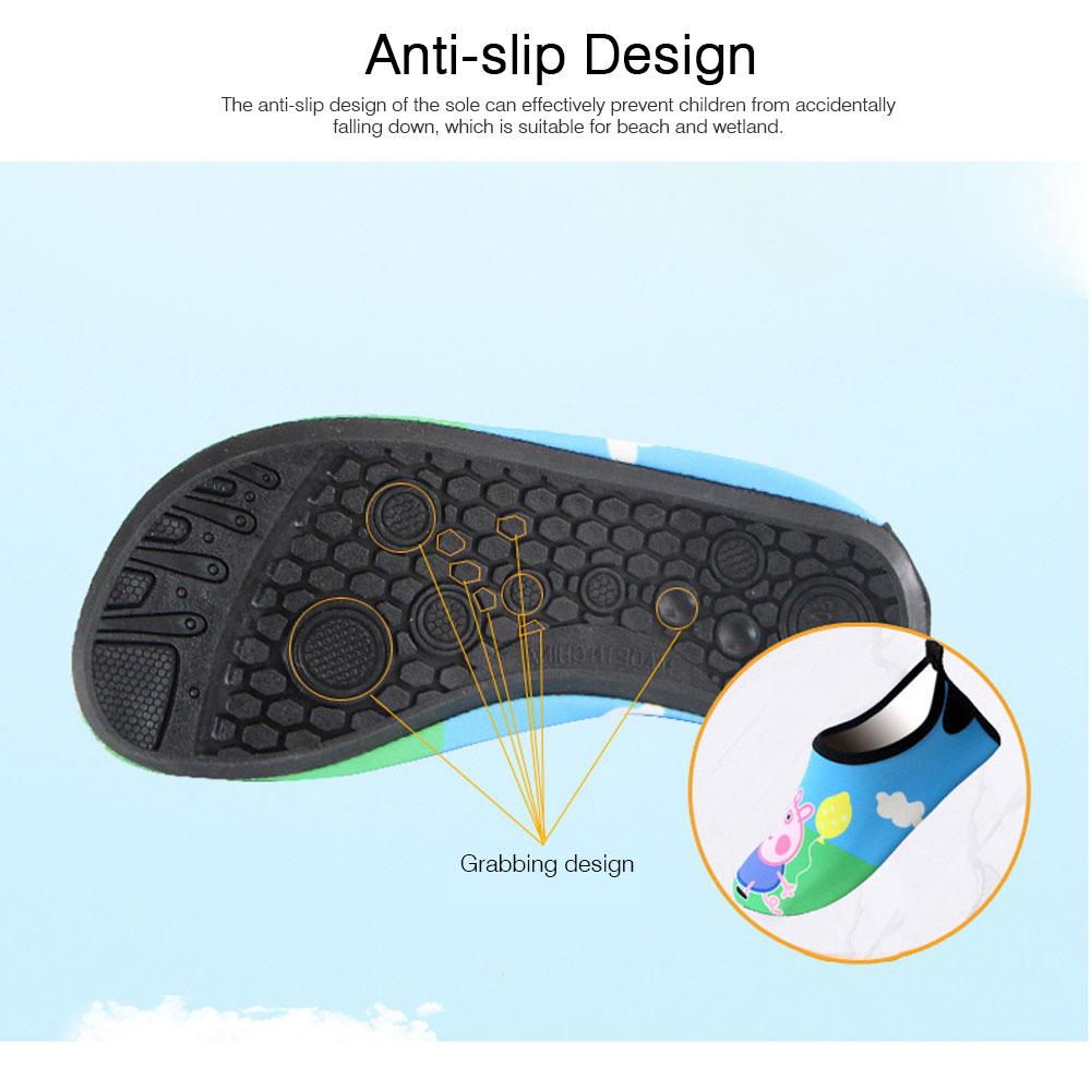 Kids EVA Rubber Soft Swimming Shoes for Swim Diving Wade Breathable Light Anti-slip Beachwear Shoes for Boy Girl 2