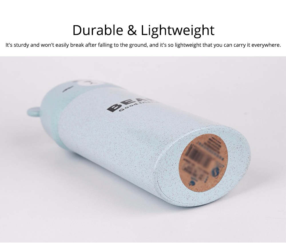 Travel Toothbrush Cup Portable Wash Cup Holder Toothpaste Holder Organizer Eco-friendly Wheat Straw 5