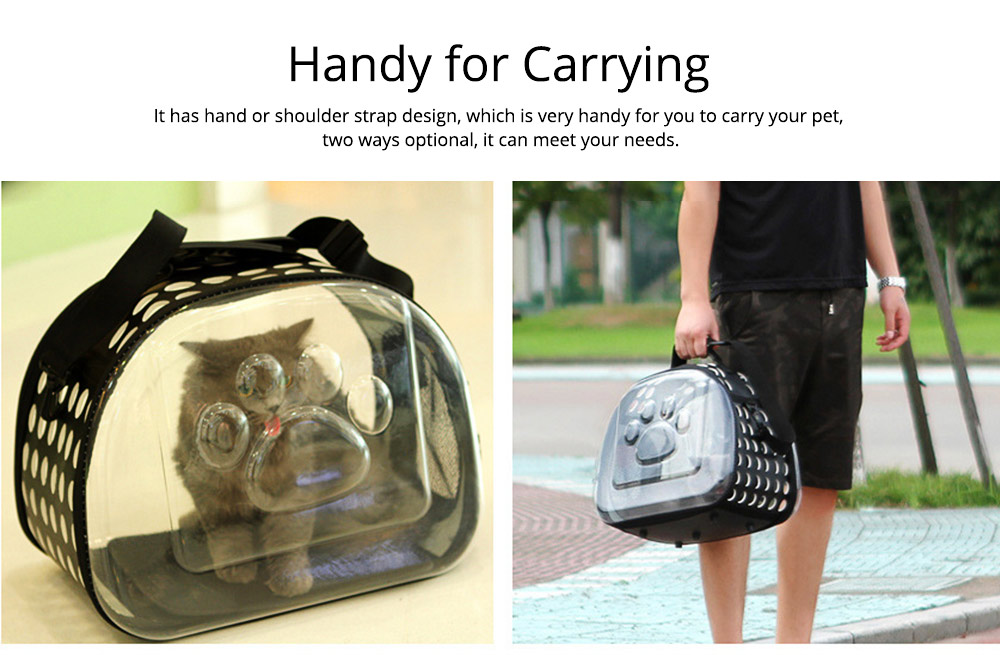 Transparent Pet Carrier Travel Bag, Foldable Portable Bag with Breathable Holes and Zipper Opening 4