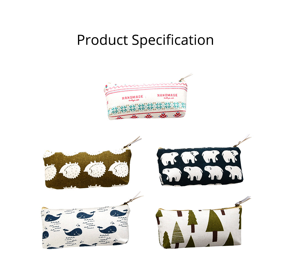 Korean Style New Creative Student Stationery Bag Cotton Linen Pen Bag for Different Patterns Optional 9