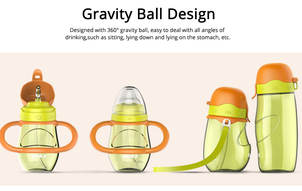 Parent-child Bottle Silicone Material for Baby Parent Learn Drink Water-tight Glass Drop-resistance Cup 6