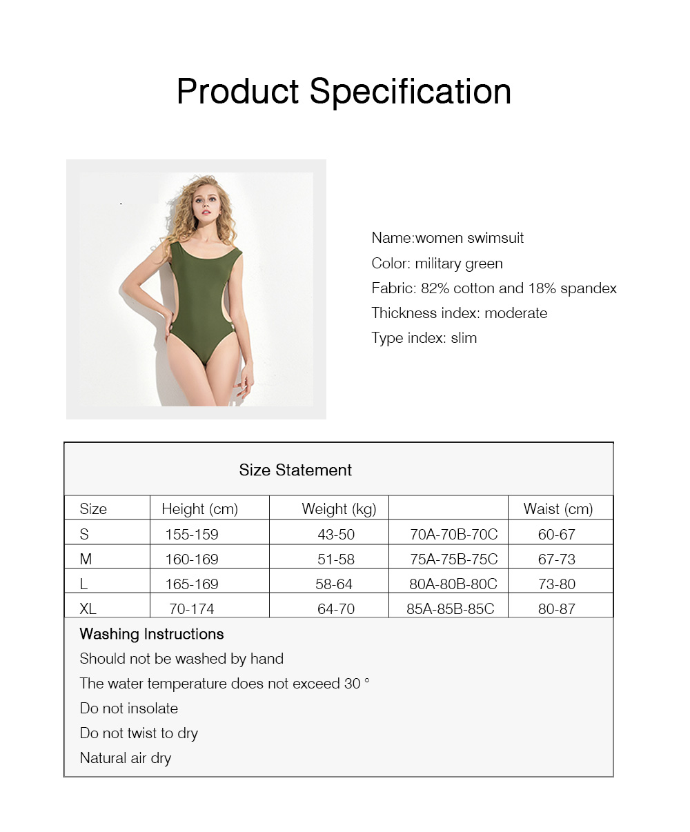 Spandex Cotton Swim Trunks Hollow Design Bathing Suit with Breast Cushion for Women Summer Breathable Swimwear 6