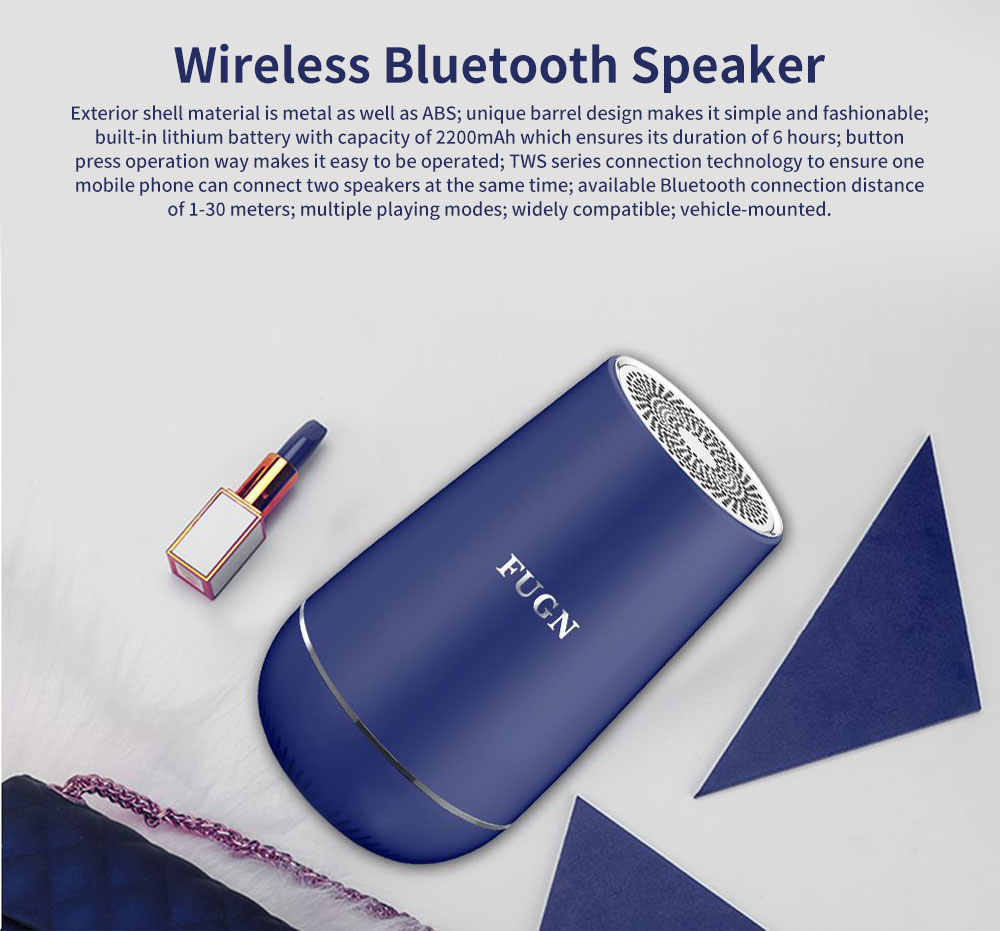 New Style Portable Wireless Bluetooth 4.2 Speaker Wireless 30M Bluetooth Subwoofer Vehicle-mounted Stereo Bluetooth Speaker 0