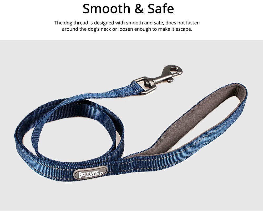 Dog Traction Thread Zinc Alloy Steel Nylon Material String Dog Leash Reflective Sewing Strong Dog Chain 5