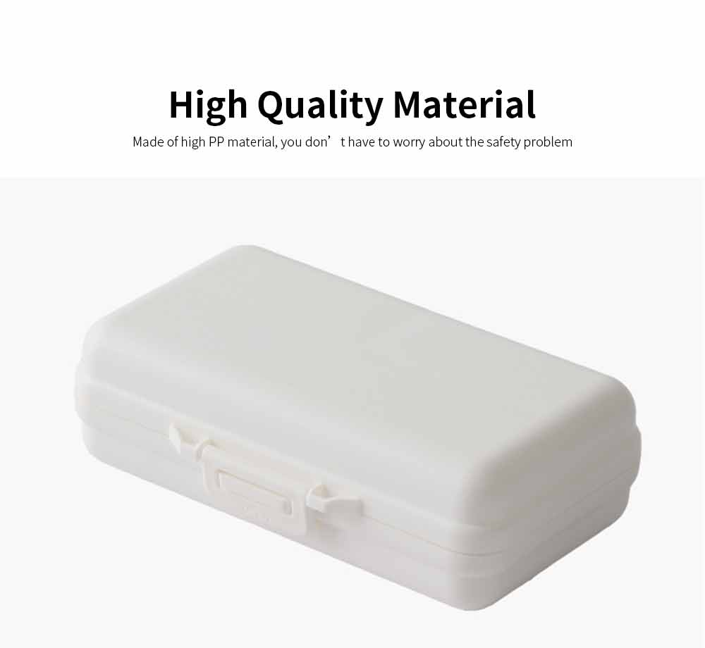 Mini-sized Medicine Container for Outdoor Travelling, Concise Potable White Little Carry-on Pill Case One Week Dose Dispenser 4