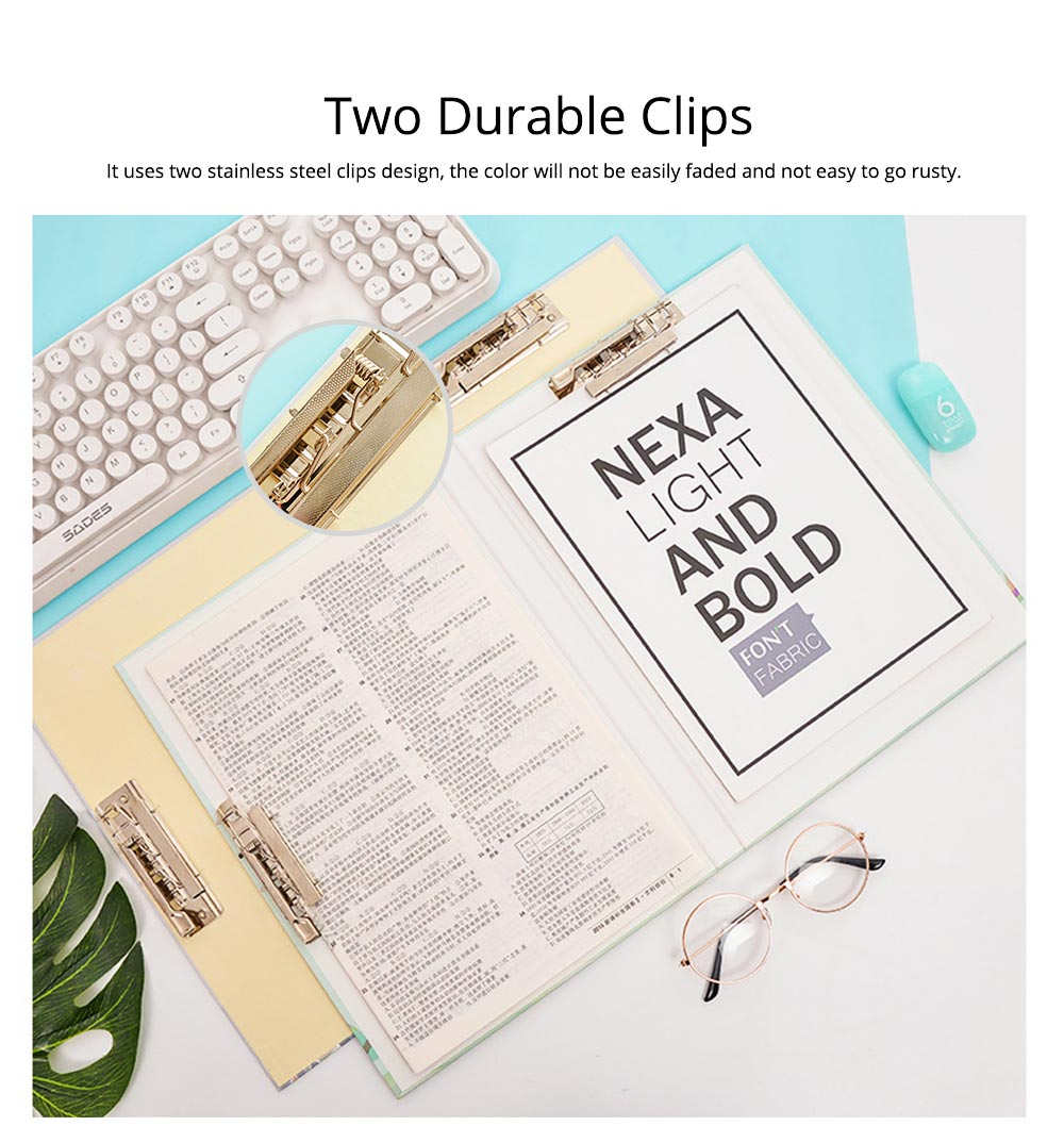 A4 Paper Size Document Clipboard Writing Paperboard Profile Clip for Student Teacher Officer 1
