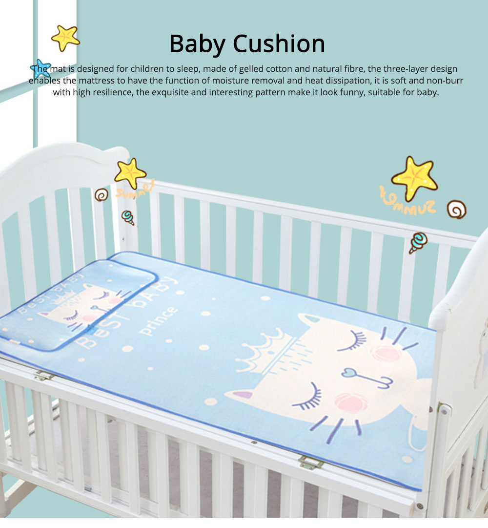 Cotton Natural Fibre Material Bed-mat Moisture Removal Mat Mould-proof for Baby Sleep Bed Summer Soft Cushion 0