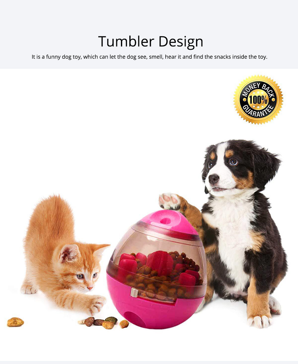 Dog Treat Dispenser Ball Toy Interactive Treat-dispensing Ball for Dogs and Cats Tumbler Design 1