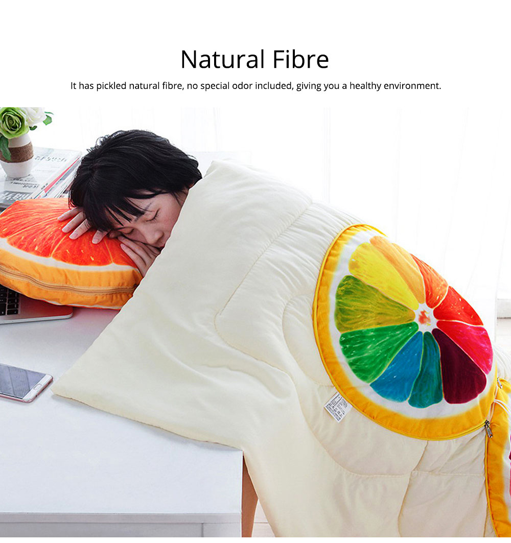 Double Use Summer Pillow Quilt Foldable Stylish Car Pillow Quilt for Office Noon Nap 4