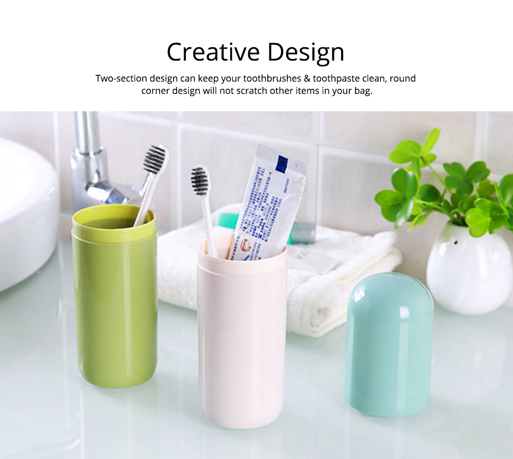 Toothbrush Holder Toothpaste Case Travel Containers Organizer Protect Storage Box for Travel Camping Outdoors 4