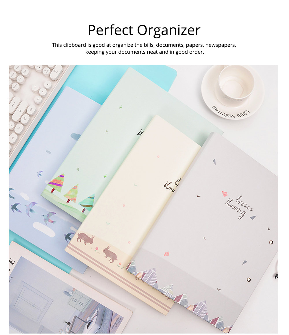 A4 Paper Size Document Clipboard Writing Paperboard Profile Clip for Student Teacher Officer 3