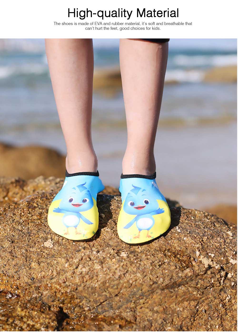 Kids EVA Rubber Soft Swimming Shoes for Swim Diving Wade Breathable Light Anti-slip Beachwear Shoes for Boy Girl 6