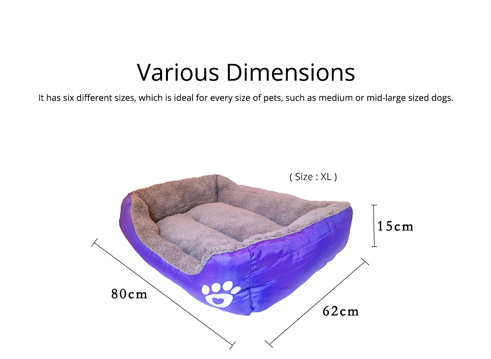 Super Soft Pet Sofa Dog Bed, Non Slip Bottom Pet Lounger, Self Warming and Breathable with Raised Rim Pet House 5