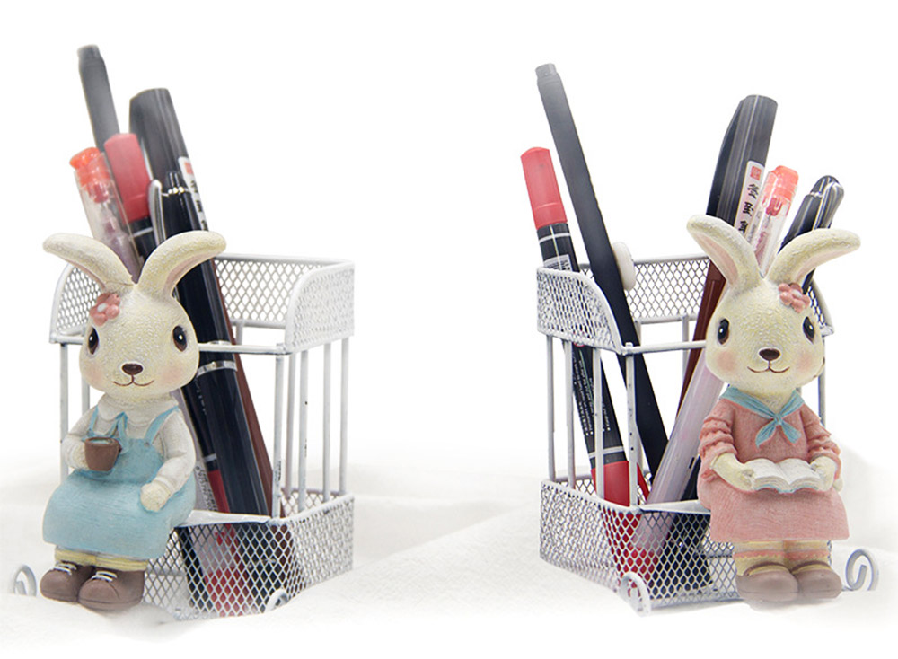 Rabbit Home Decoration Bunny Resin Figurines, Bunny Bosom Friend Hare Decorations for Home and Garden Ornaments 4