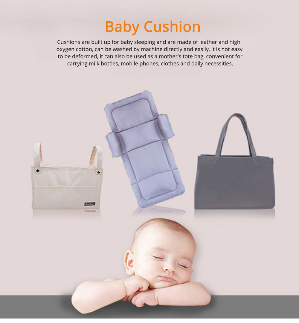 Cushion Leather Cotton Material Pressure-resistant for Baby Sleep Bed Collapsible Portable for Mom Bag Soft Mat 0