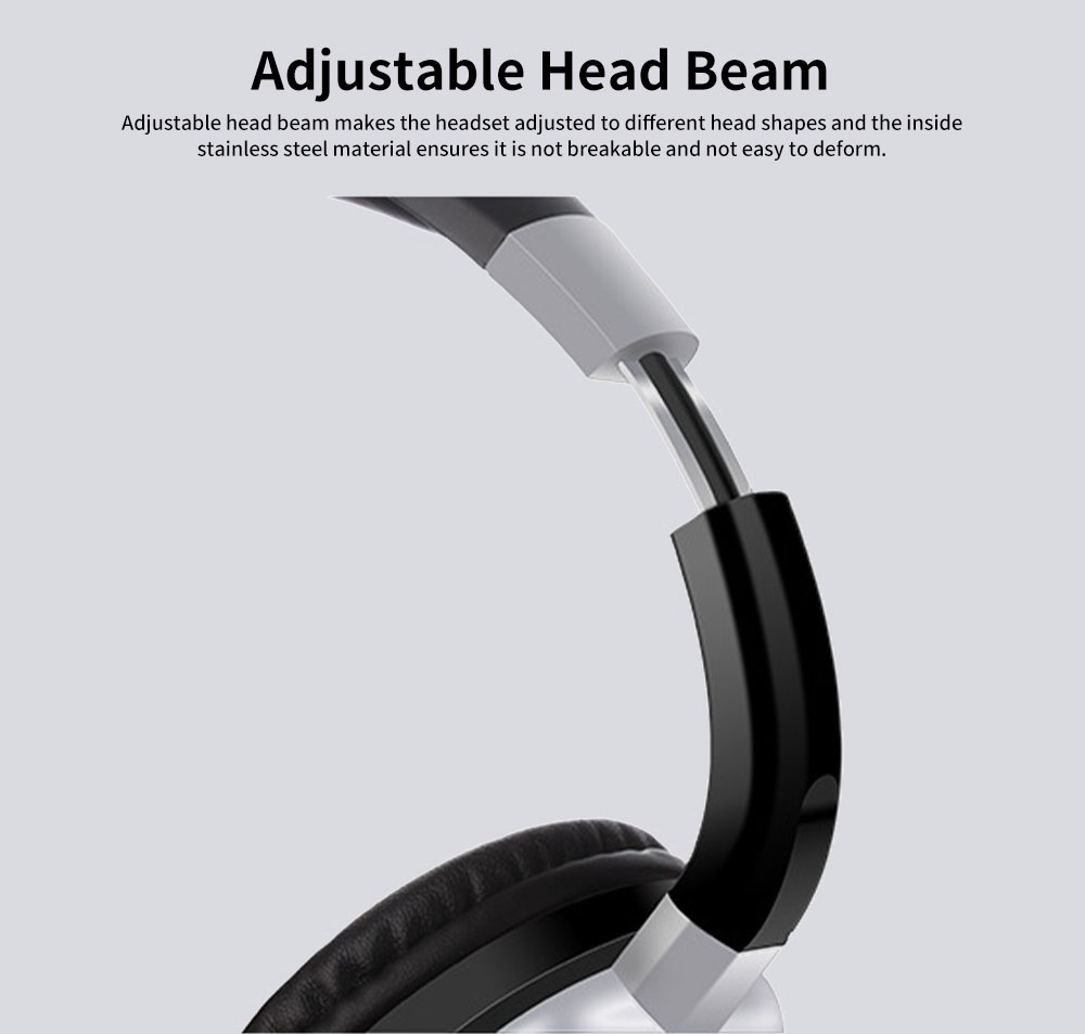 Wireless Bluetooth Headset Stereo Head-mounted Bluetooth Headset Mega Bass Sports Bluetooth Headset for Cell Phones Wireless Connection 4