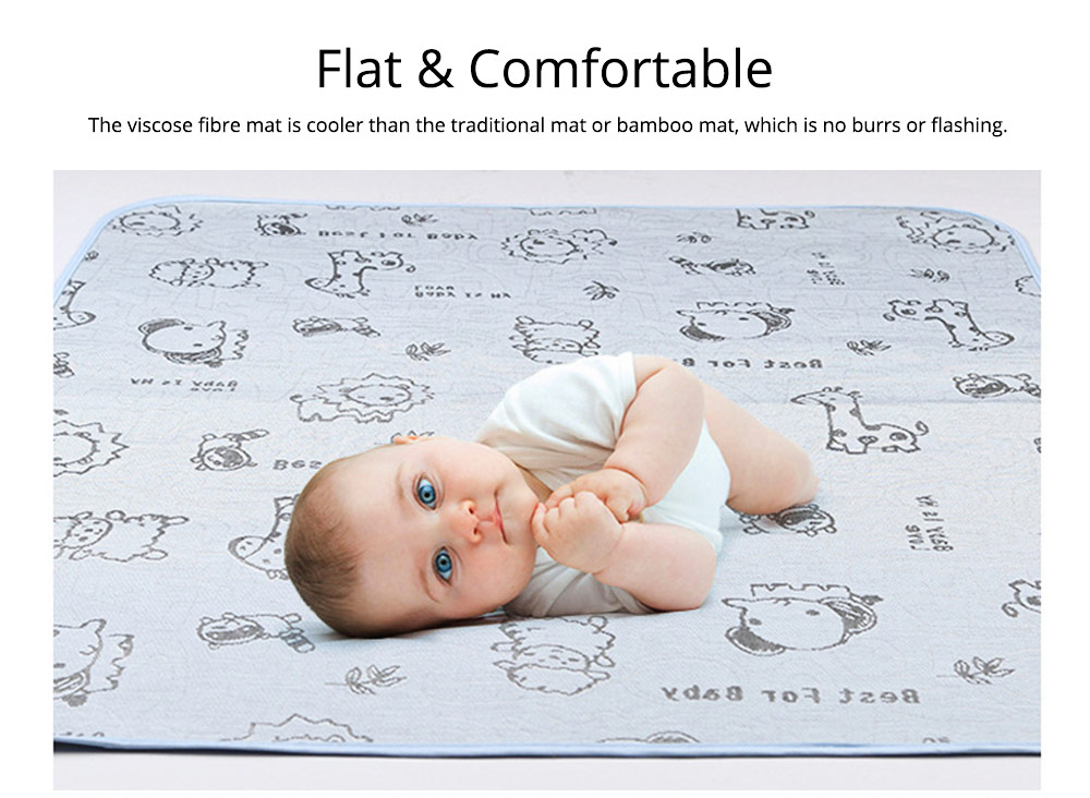 Summer New-born Baby Urine Insulation Pad Waterproof Washable Cool Mattress Mat 3