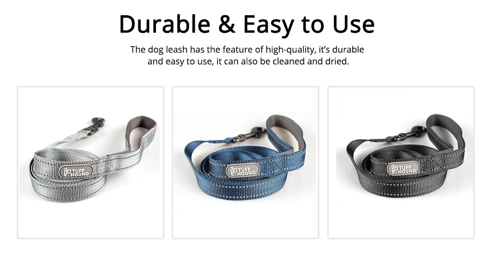 Dog Traction Thread Zinc Alloy Steel Nylon Material String Dog Leash Reflective Sewing Strong Dog Chain 4
