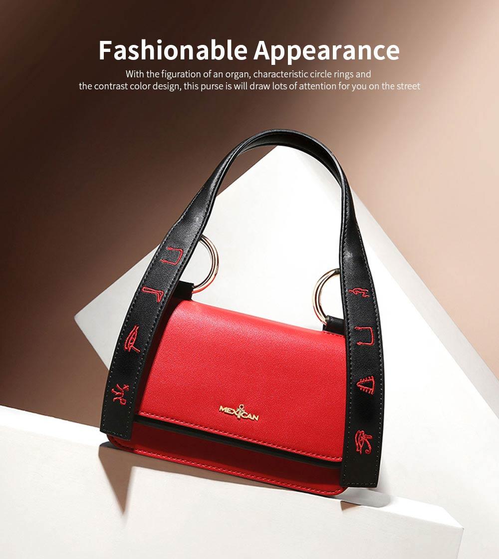 2019 Latest Fashionable Women Purse, PU Magnetic Snap Shoulder Bag, Messenger Bag for Ladies Easy Matching 1