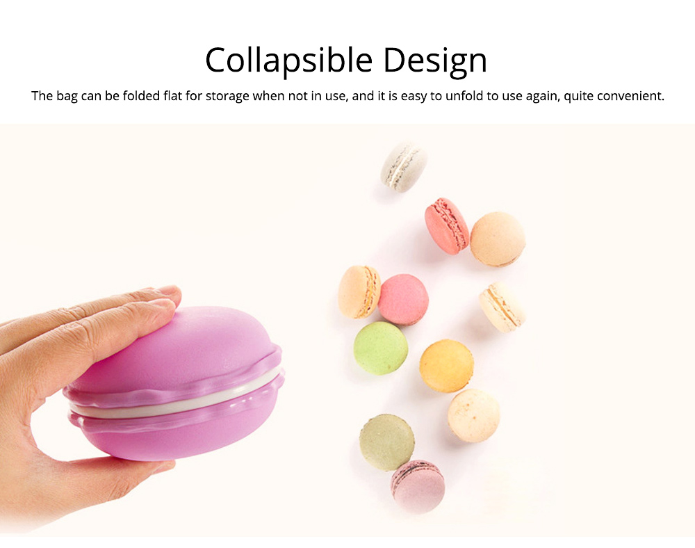 Mini Macaron Box Colorful Macaron Jewelry Storage Box Cute Organizer Case Container 3