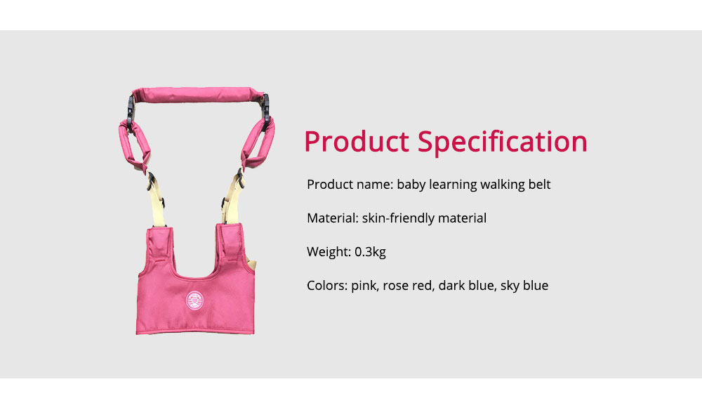 Belt Skin-friendly Material Adjustable Webbing for Baby Learning Walking Breathable Waistcoat Strap 6