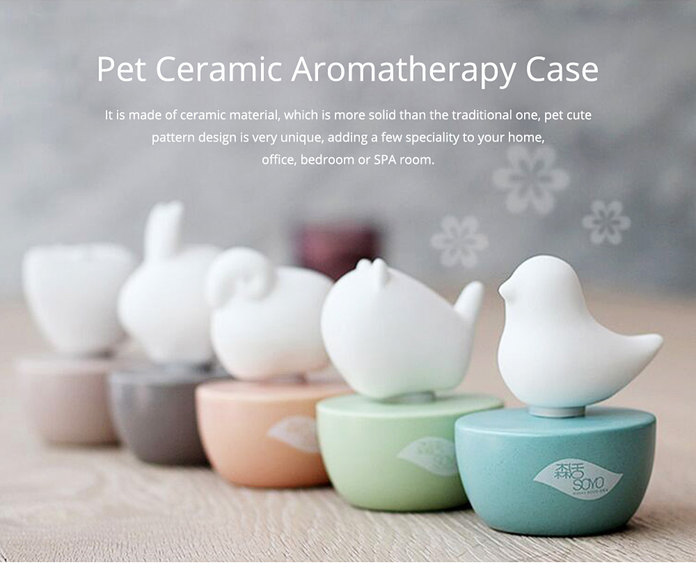Innovative Pet Ceramic Aromatherapy Case Set Eco-friendly Fresh with Essential Oil 0