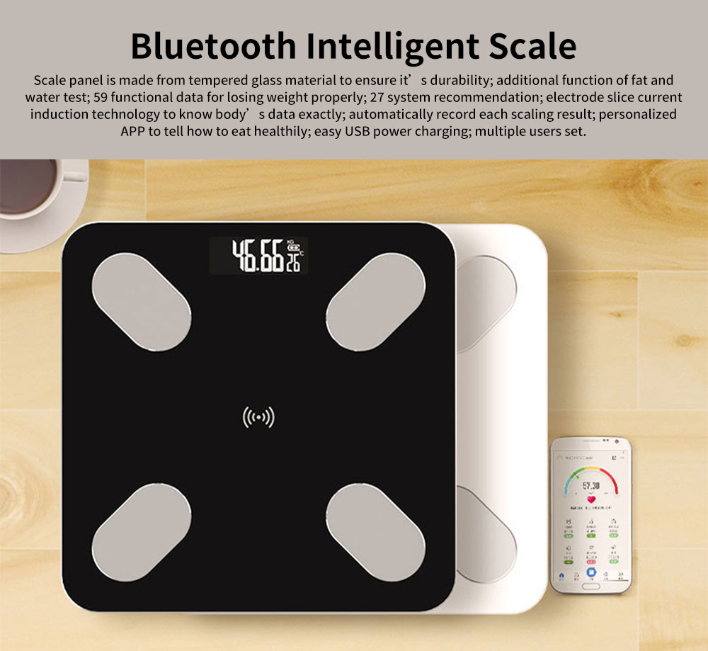 Digital Weight and Body Fat Bluetooth Scales, Bluetooth Intelligent Scale for Body Weight 0