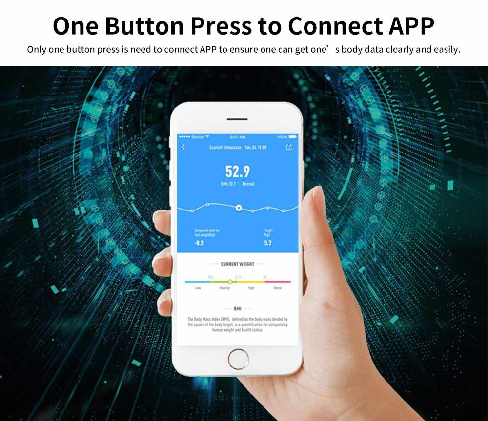 High-precision Intelligent Electronic Scales for Female Body Weight Scale Grams and Ounces Bluetooth Scale Battery Body Fat Calculator Muscle Skeleton Water 3