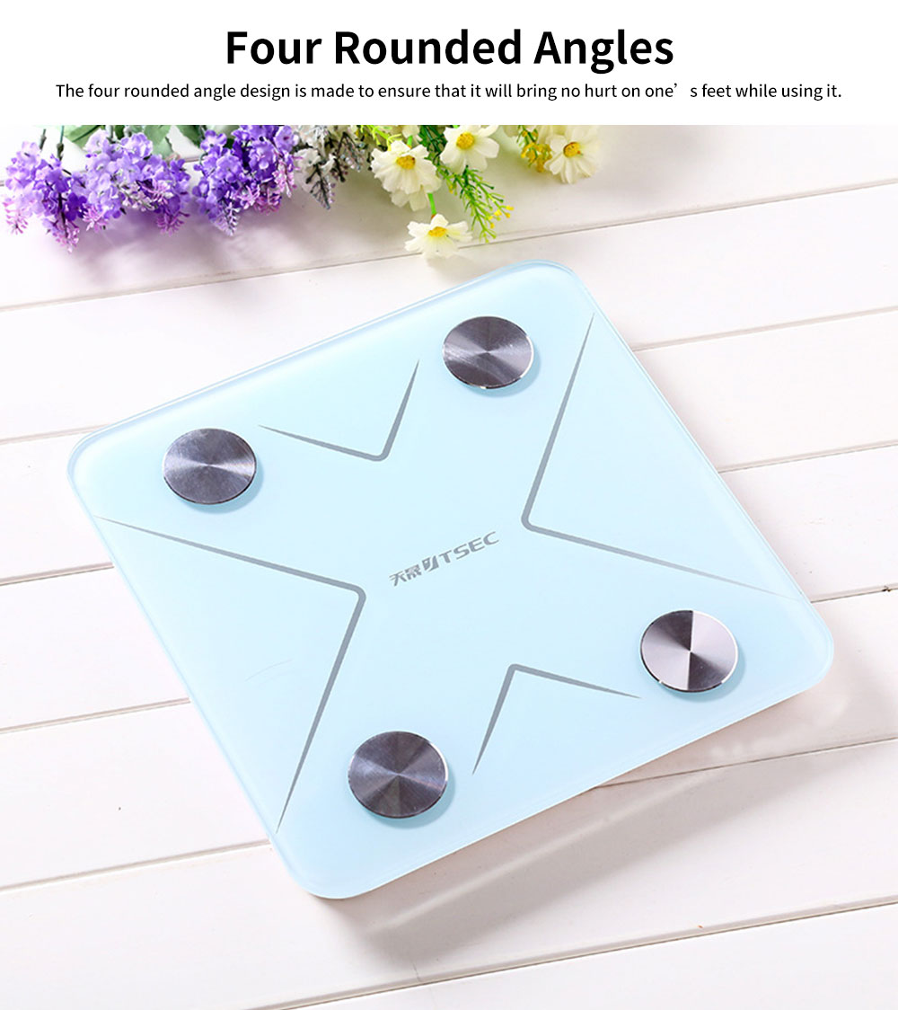 High-precision Intelligent Electronic Scales for Female Body Weight Scale Grams and Ounces Bluetooth Scale Battery Body Fat Calculator Muscle Skeleton Water 2