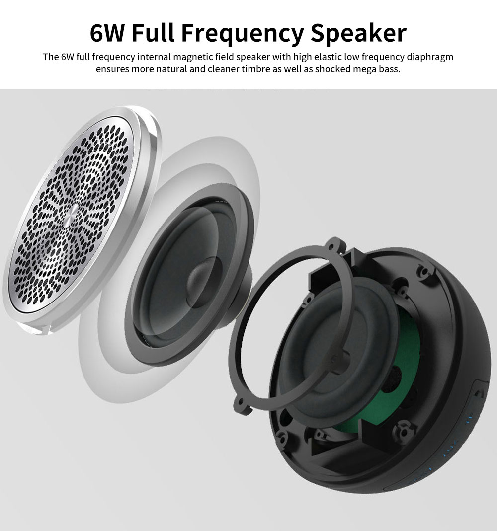 New Style Portable Wireless Bluetooth 4.2 Speaker Wireless 30M Bluetooth Subwoofer Vehicle-mounted Stereo Bluetooth Speaker 4