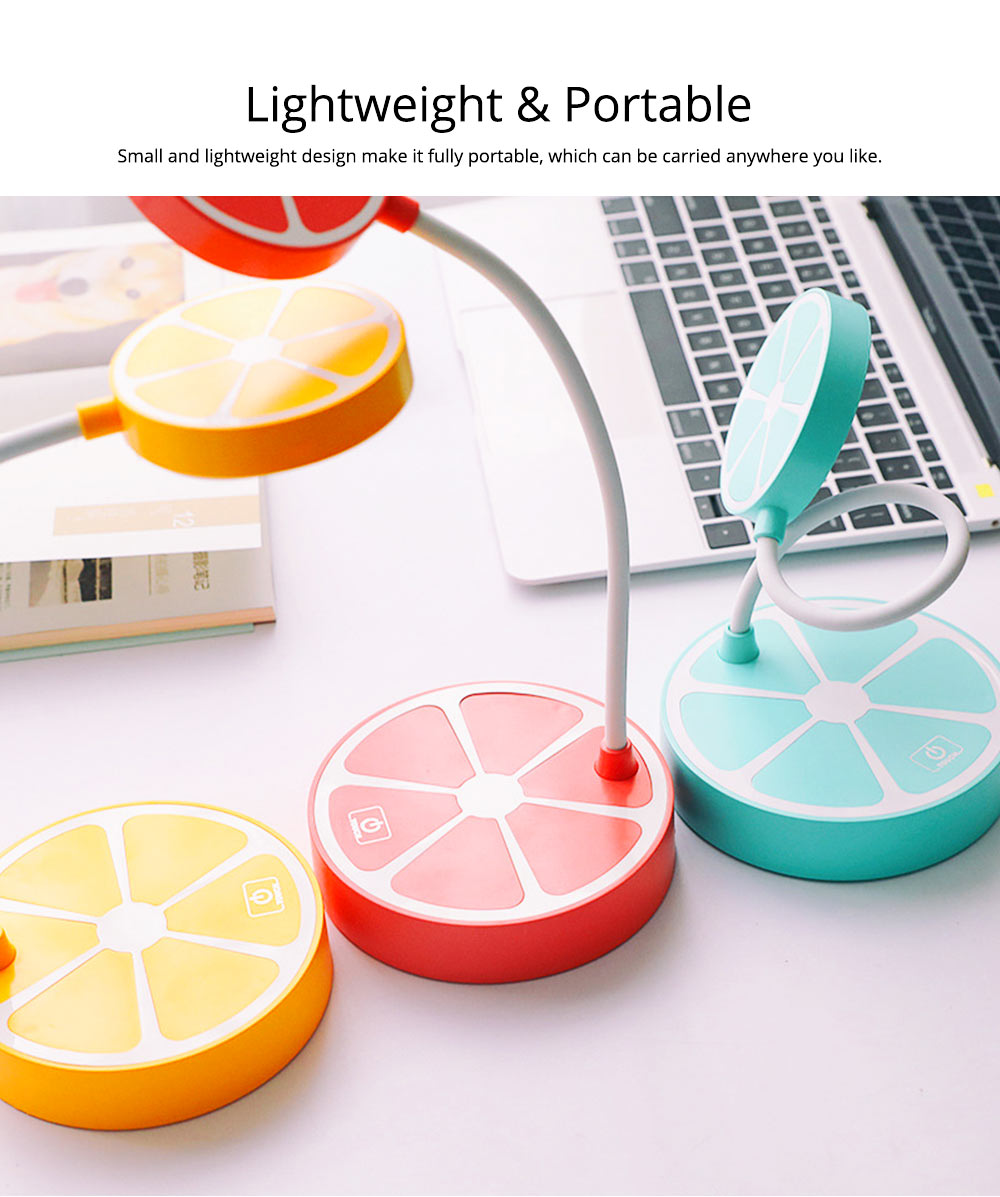 Rechargeable Students Candy Color LED Table Lamp Power-Saving Bedroom Desk Lamp 7