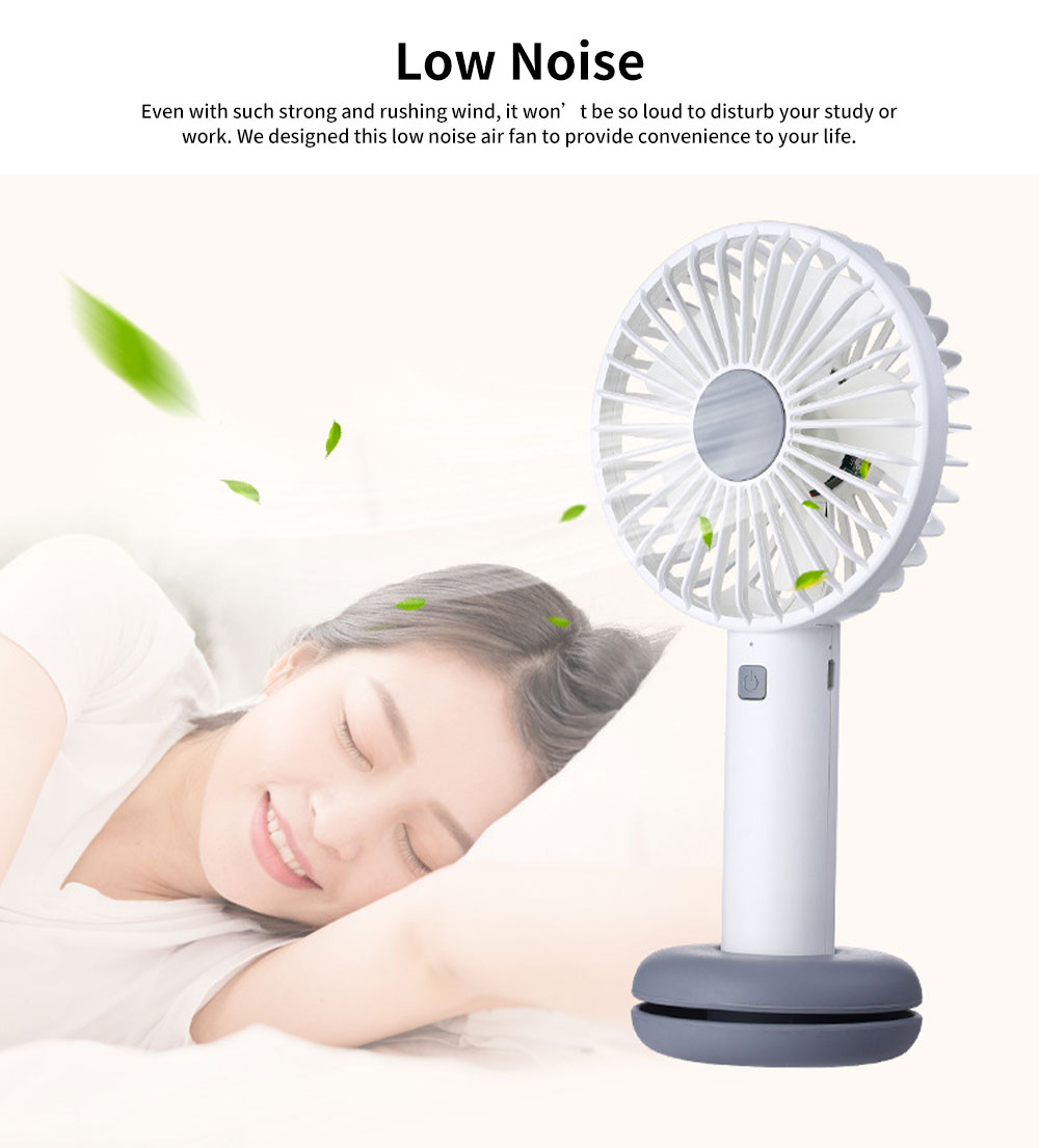Hand-held Mini-sized Donut Electric Fan with LED Colorful Night Light, Concise ABS and Silica Gel USB Charging Air Fan 3