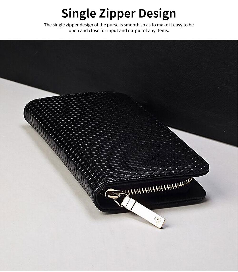 Western Style Long Purses and Handbags All-match Women Zipper Purse 3