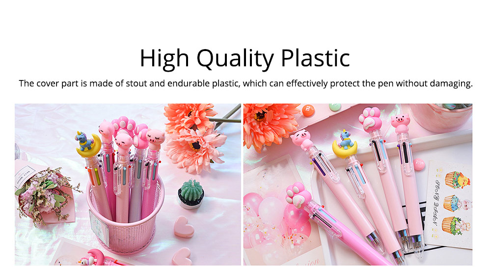6 Colors in 1 Ball Pens Multi-colors Cute Ballpoint Pen for Students School Office  Stationery Gift 4
