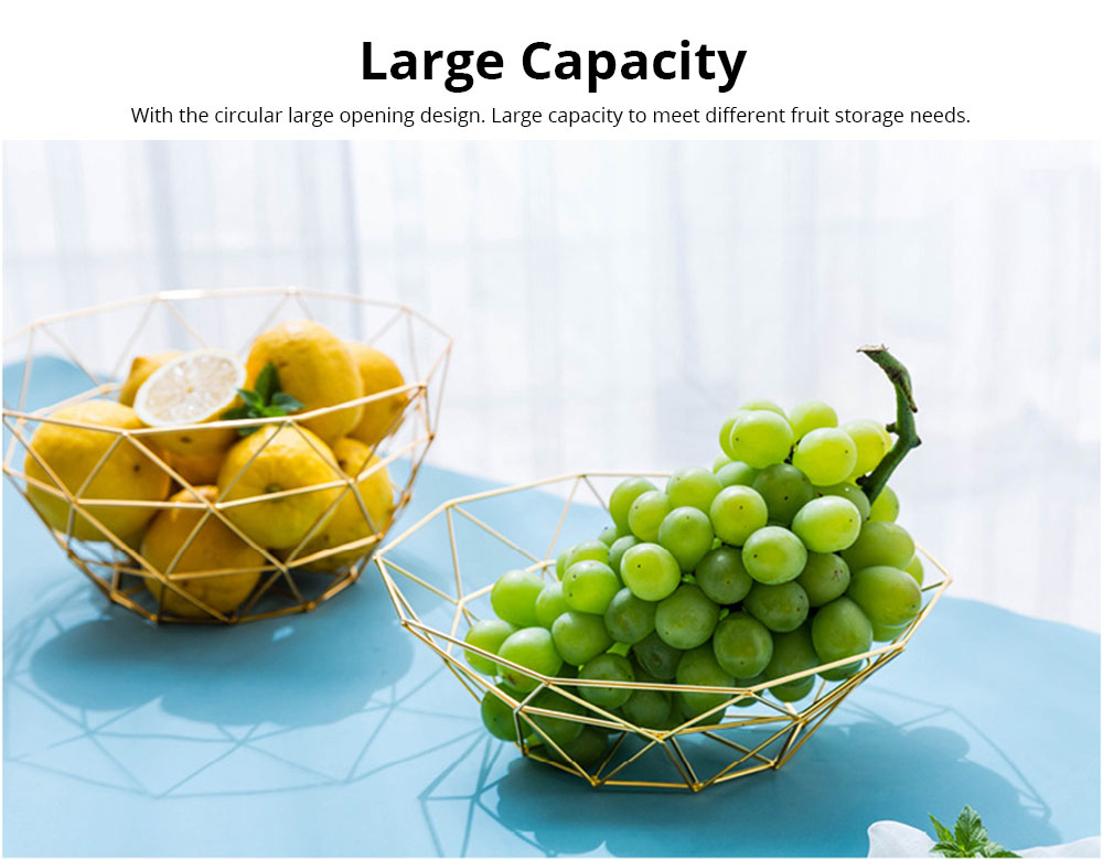 Fruit Plate European Style Iron Art Fruit Basket Holder Kitchen Accessories for Fruit Vegetable Snacks Holder 3