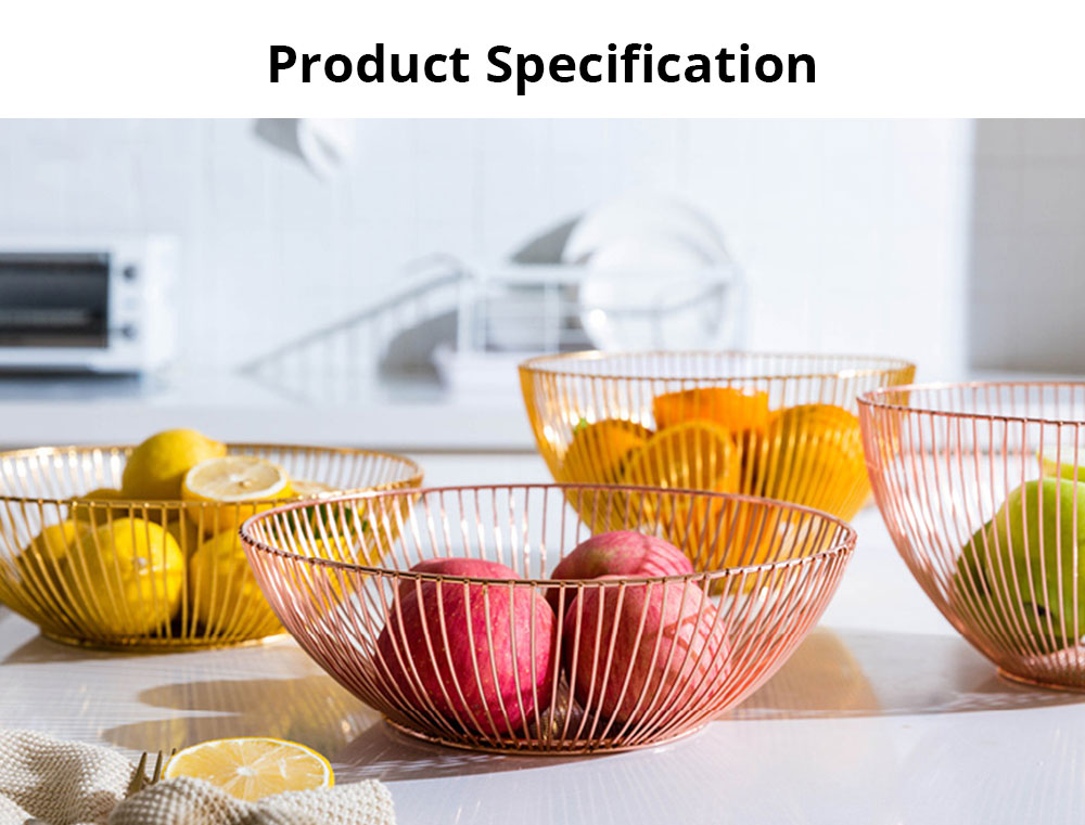 Fruit Plate European Style Iron Art Fruit Basket Holder Kitchen Accessories for Fruit Vegetable Snacks Holder 6