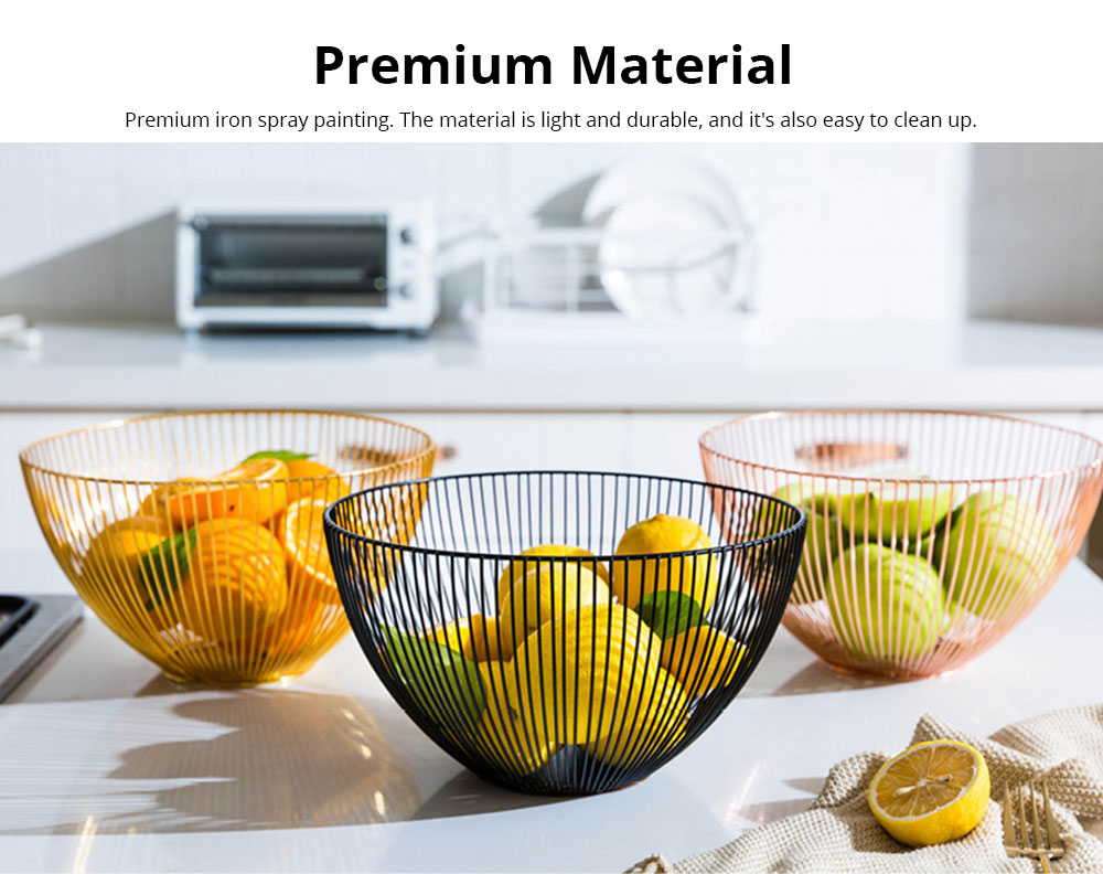 Fruit Plate European Style Iron Art Fruit Basket Holder Kitchen Accessories for Fruit Vegetable Snacks Holder 1