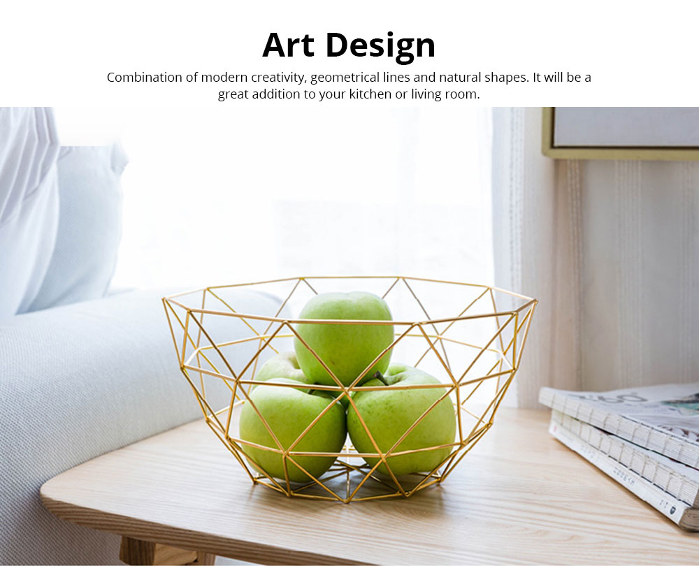 Fruit Plate European Style Iron Art Fruit Basket Holder Kitchen Accessories for Fruit Vegetable Snacks Holder 2