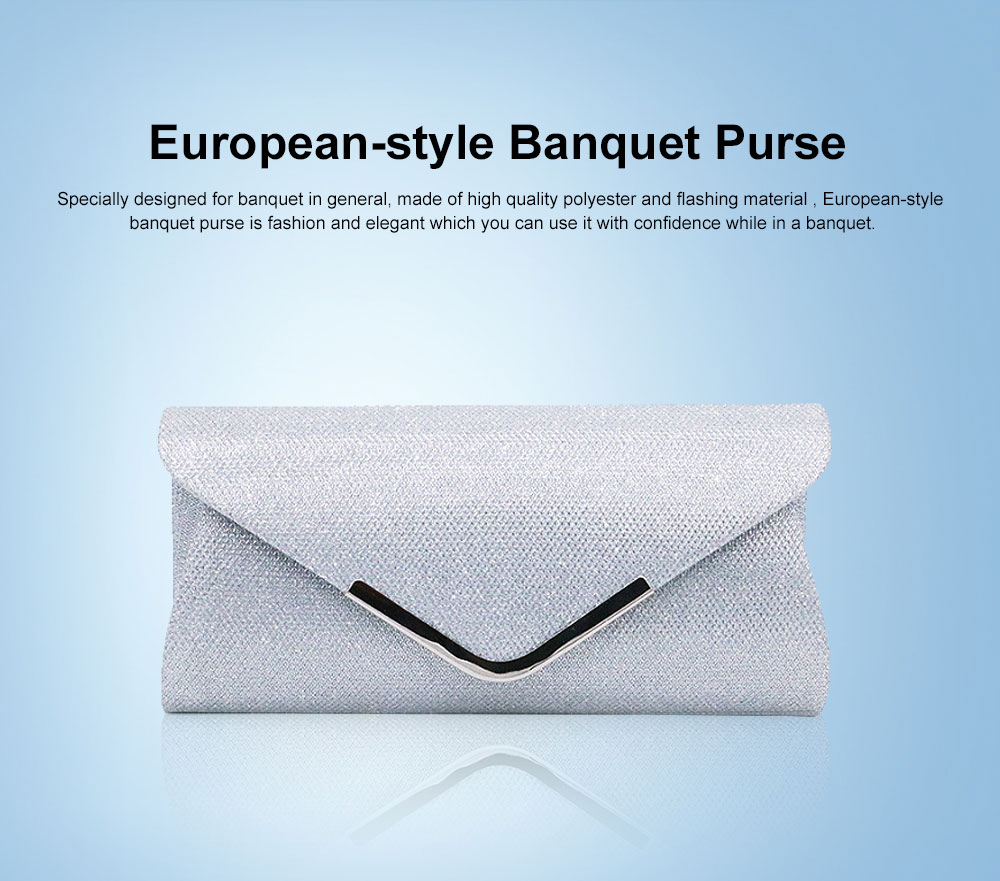 New 2019 Dinner Purse, European-style Banquet Purse, Flash Material Single Shoulder Purse 0